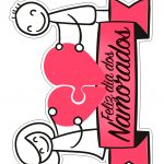 Topo de Bolo Dia dos Namorados para Imprimir 3
