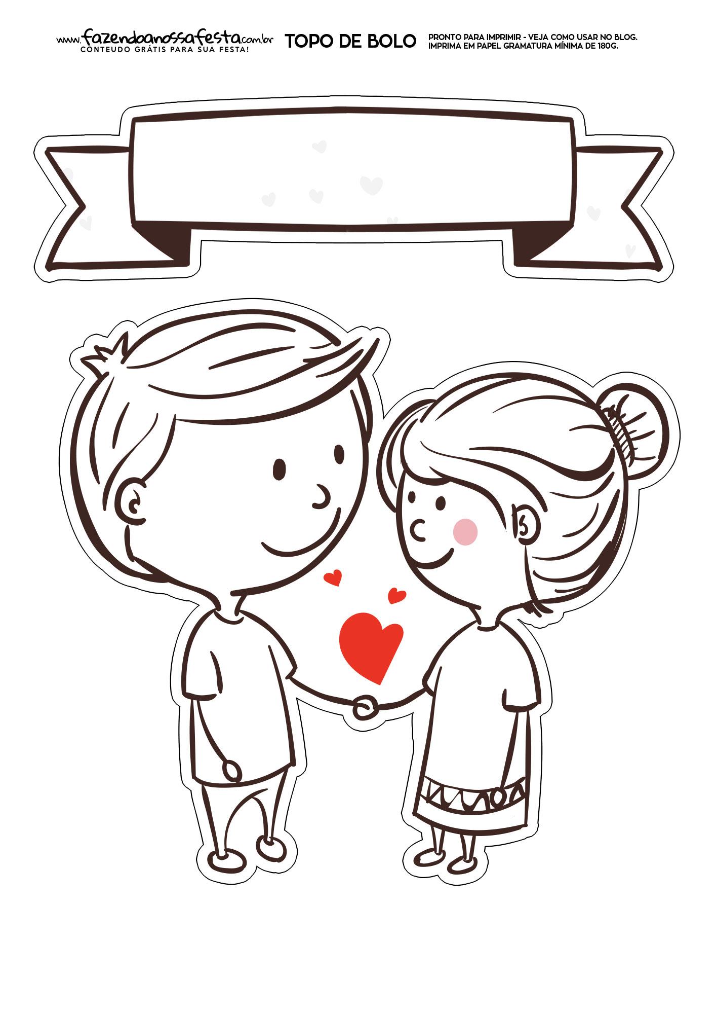 Topo de Bolo para namorado 6