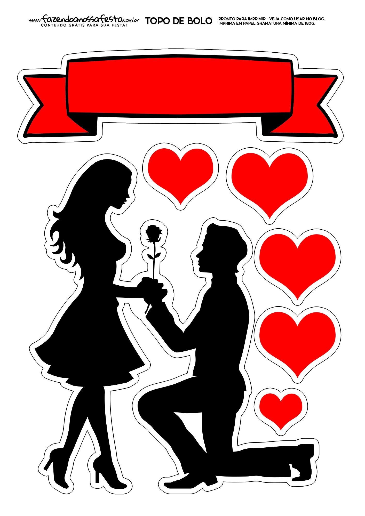 Topo de Bolo para namorado 7