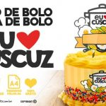 Topo de bolo e faixa lateral Festa Cuscuz