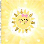 rotulo adesivo caixa de acrilico Festa Raio de Sol