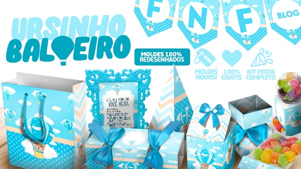 Kit Festa Ursinho Baloeiro para Imprimir