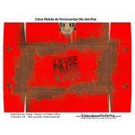 Caixa Ferramentas Dia dos Pais Vermelha 2