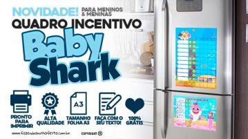 Quadro Incentivo Baby Shark