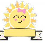 Topo de bolo Raio de Sol gratis