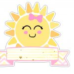 Topo de bolo Sunshine para imprimir