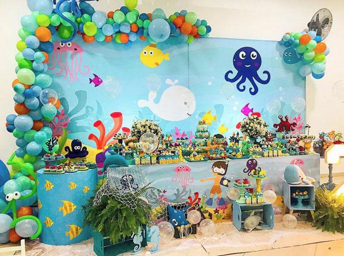 14 Ideias decoracao Fundo do Mar