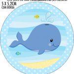 Adesivo redondo personalizado Fundo do Mar