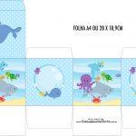 Caixa Cubo Fundo do Mar