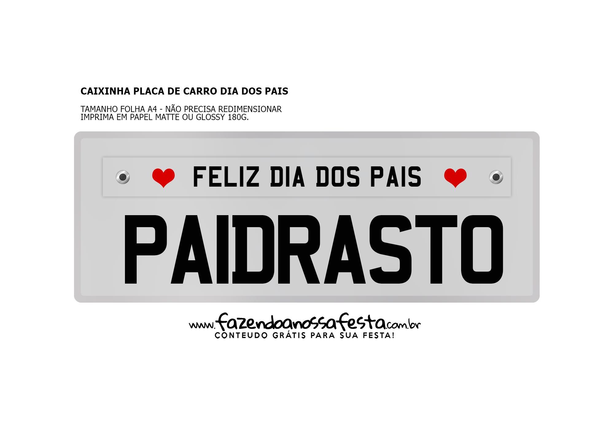 Caixa Placa Cinza Paidrasto