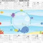 Calendario Personalizado 2019 Fundo do Mar