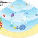 Chapeu de Festa Personalizado Fundo do Mar