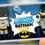 Convite Animado Batman Cute