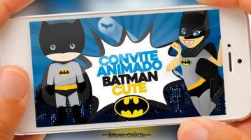 Convite Animado Batman Cute