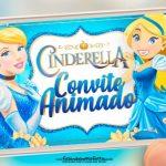 Convite Animado Cinderella Gratis