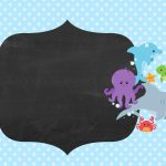 Convite Chalkboard Fundo do Mar 3