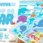 Convite Festa Fundo do Mar para editar