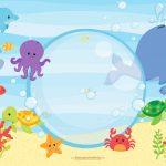 Convite Fundo do Mar para Imprimir