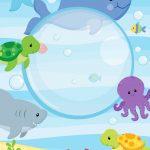 Convite Virtual Fundo do Mar gratis 2