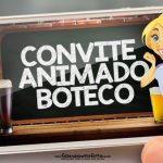 Convite animado Boteco gratis