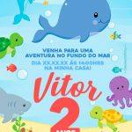 Exemplo convite preenchido Fundo do Mar