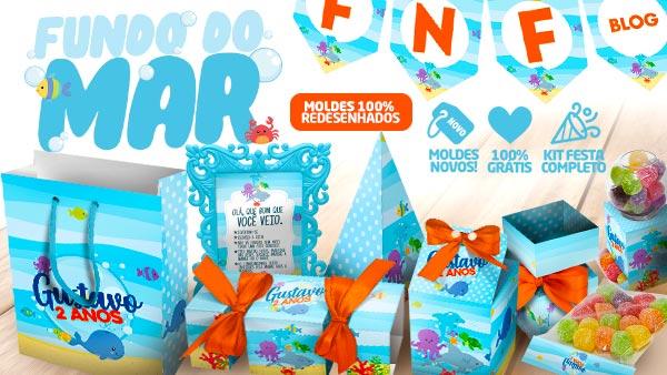 Kit Festa Fundo do Mar Gratis para Imprimir