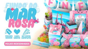 Kit Festa Fundo do Mar Rosa