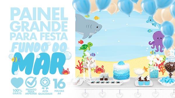 Painel para Festa Fundo do Mar