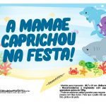 Plaquinhas Festa Fundo do Mar 7