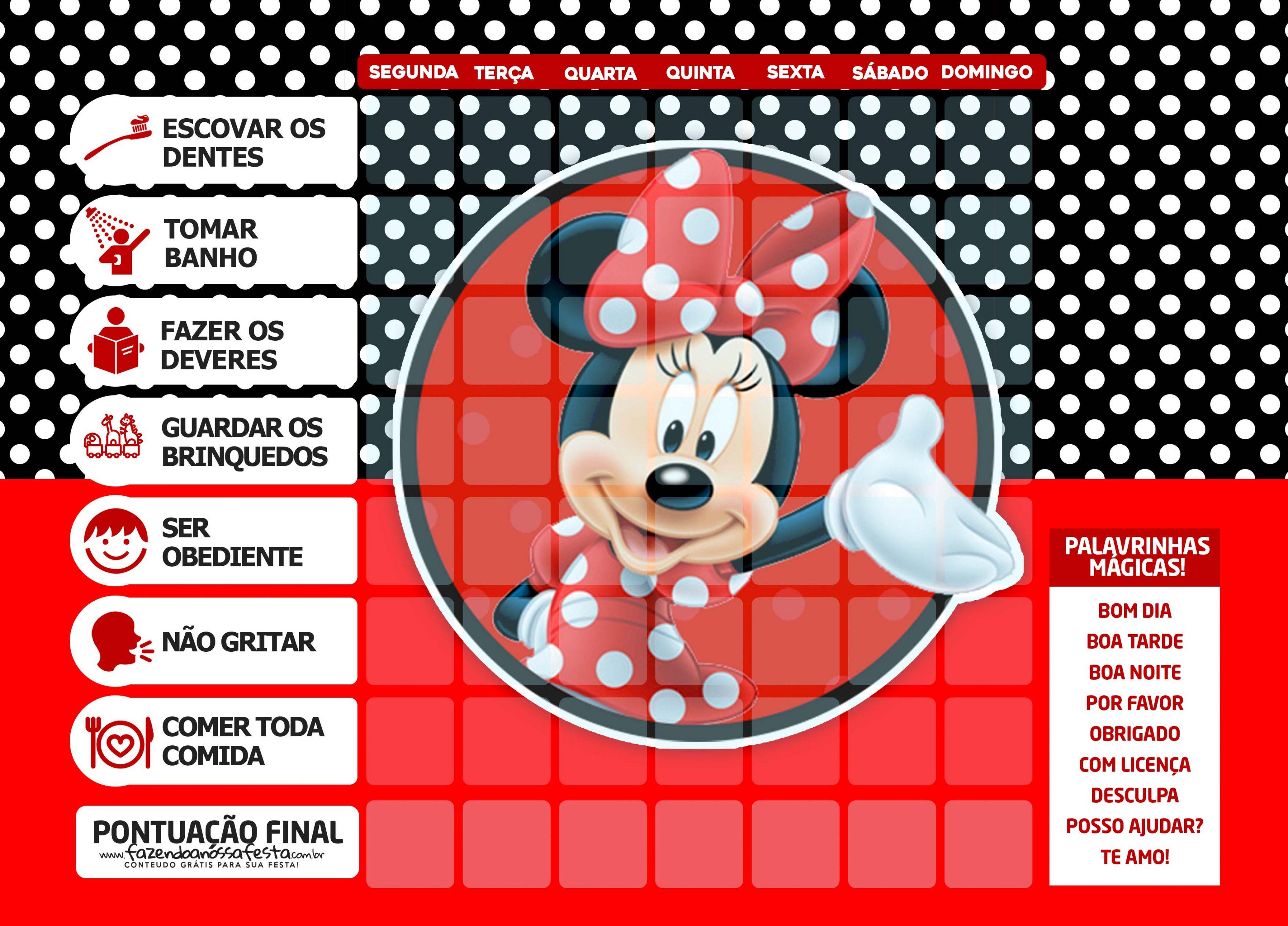 Quadro Incentivo Minnie Vermelha 4