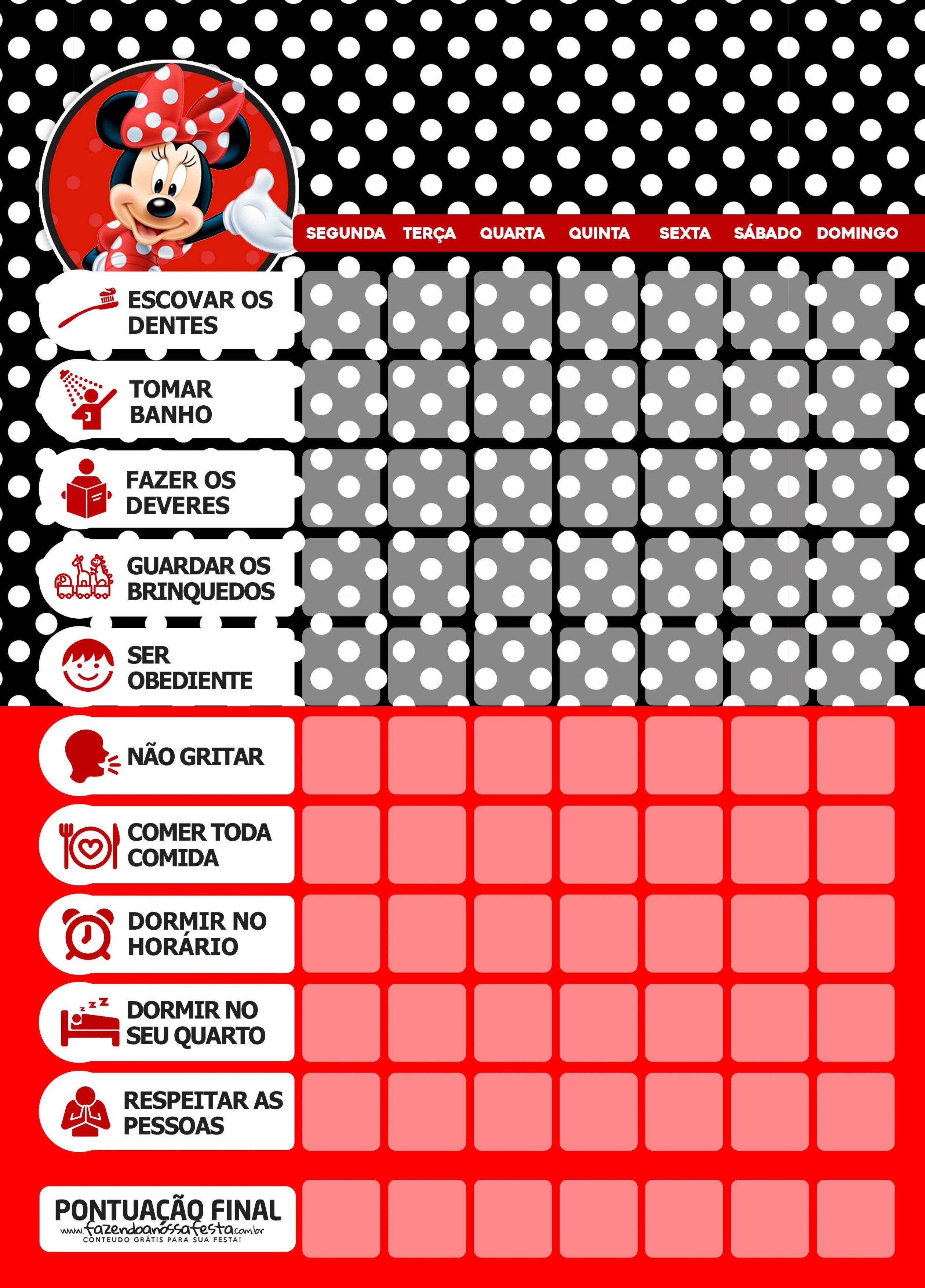 Quadro Incentivo Minnie Vermelha 5