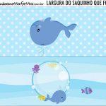Rotulo Saquinho de Bala Kit Festa Fundo do Mar