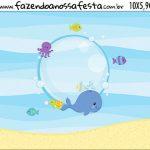 Rotulo Squeeze Kit Festa Fundo do Mar