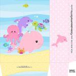 Sacolinha Surpresa Kit Festa Fundo do Mar Rosa