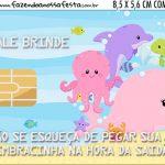 Vale Brinde Kit Festa Fundo do Mar Rosa