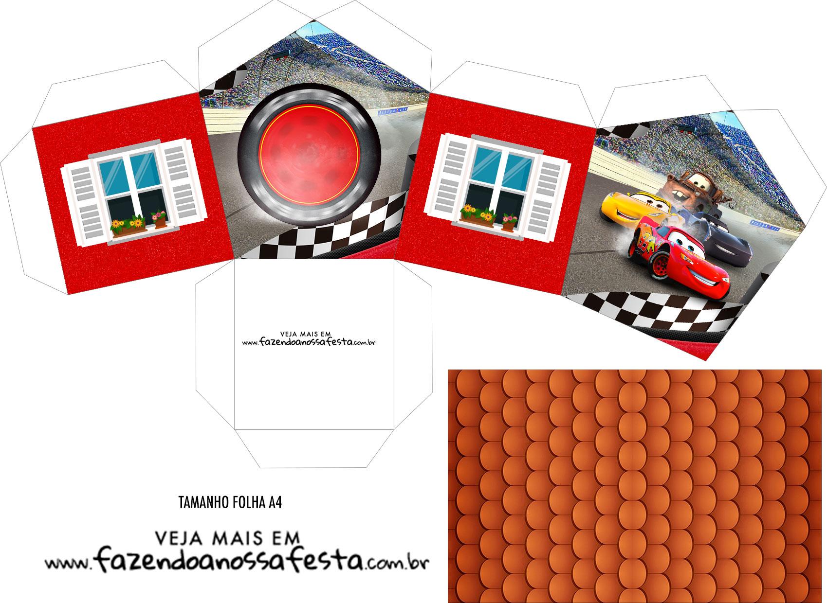Caixa Casinha Carros 3