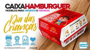 Caixa Hamburguer Dia das Criancas