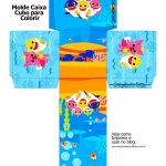 Caixa Kit Colorir Baby Shark