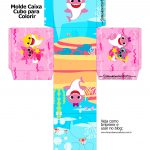 Caixa Kit Colorir Baby Shark Rosa