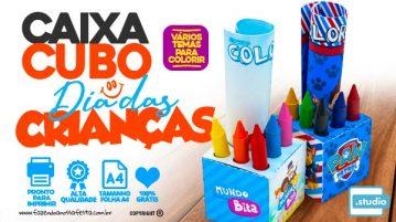 Caixa Kit Colorir Dia das Criancas