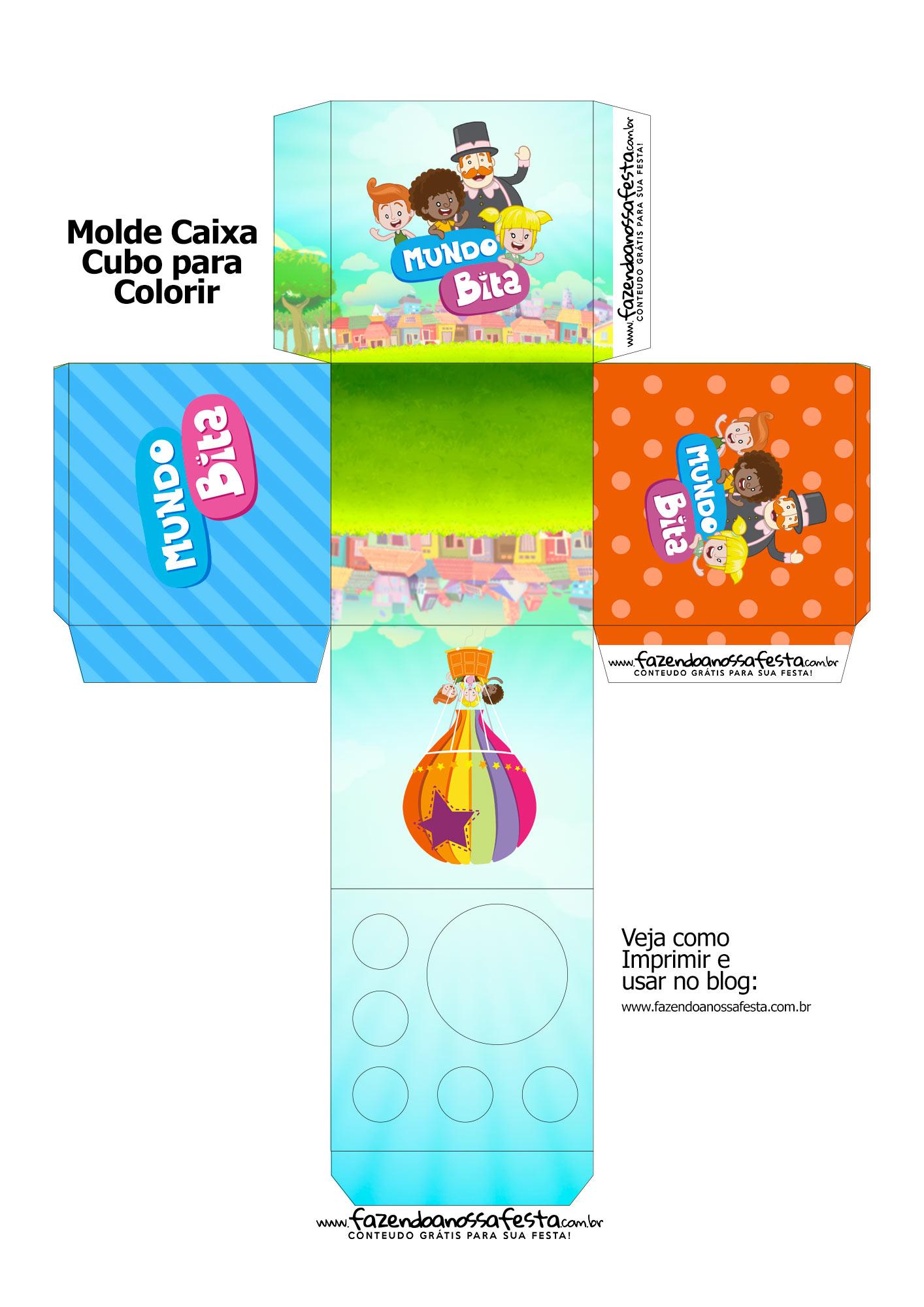 Caixa Kit Colorir Mundo Bita
