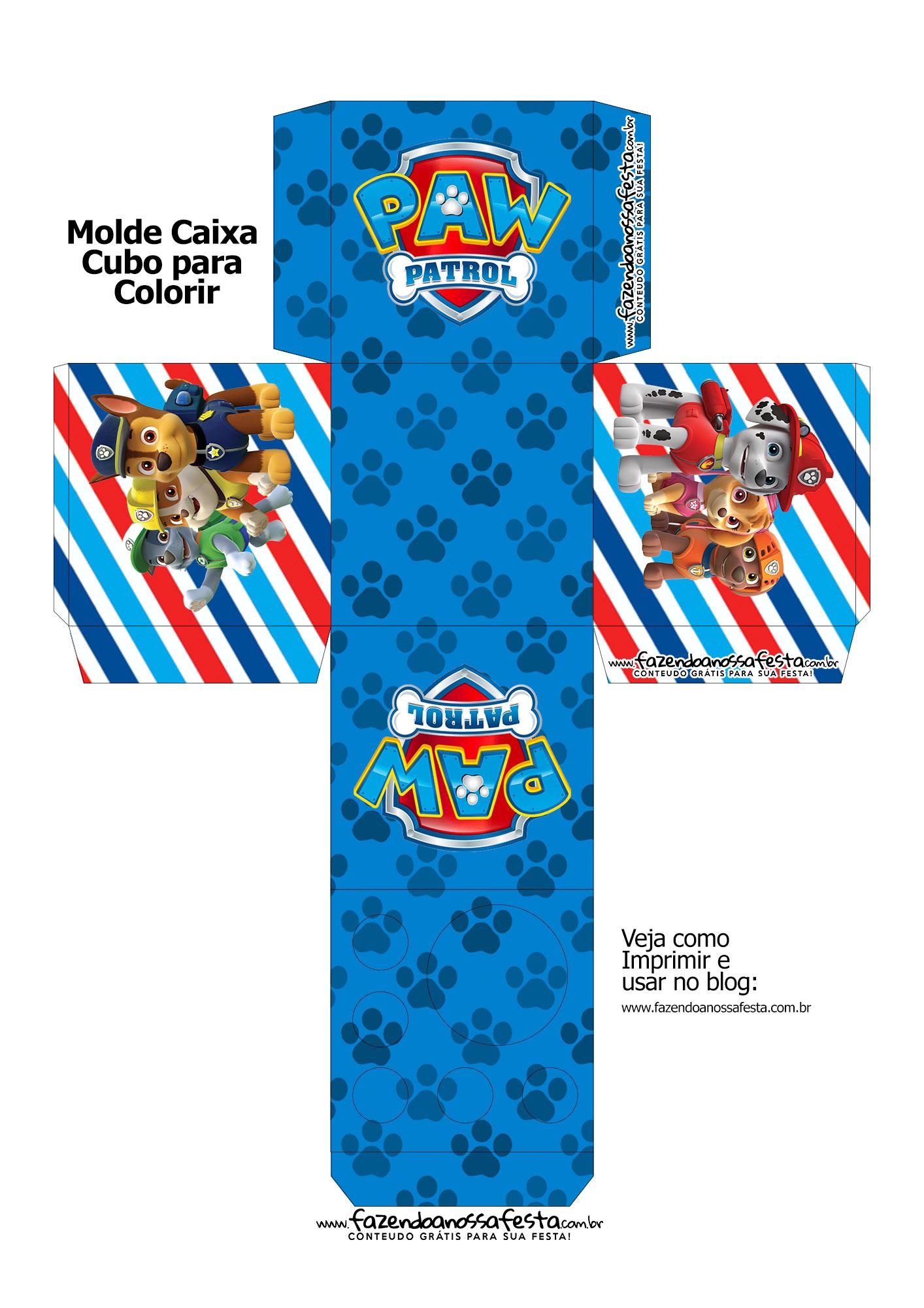 Caixa Kit Colorir Patrulha Canina