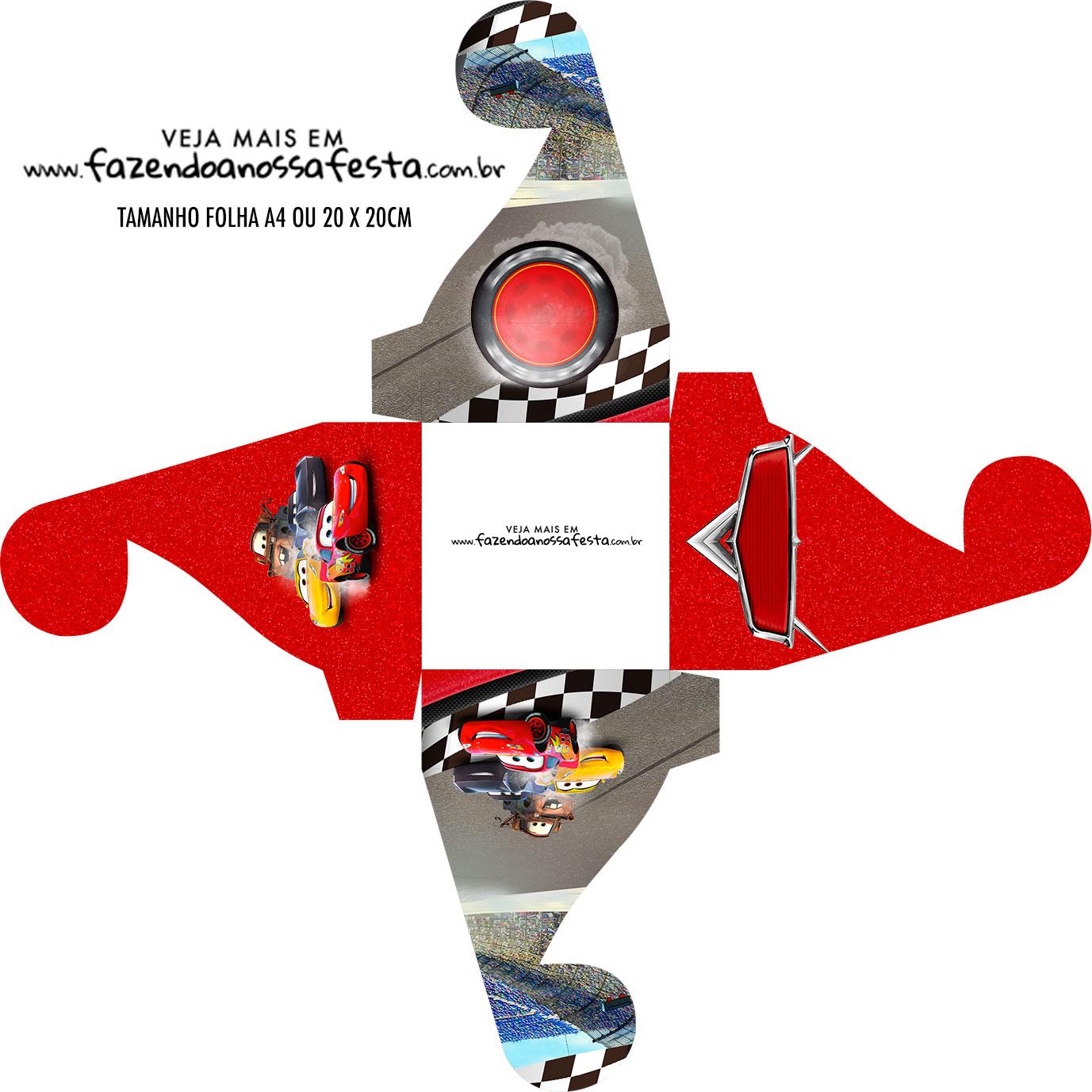 Caixa bombom personalizada Carros 3