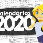 Calendario 2020 para imprimir