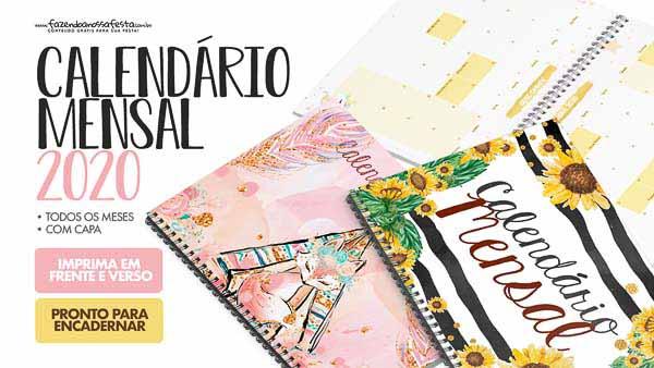 Calendario Mensal 2020 Novos