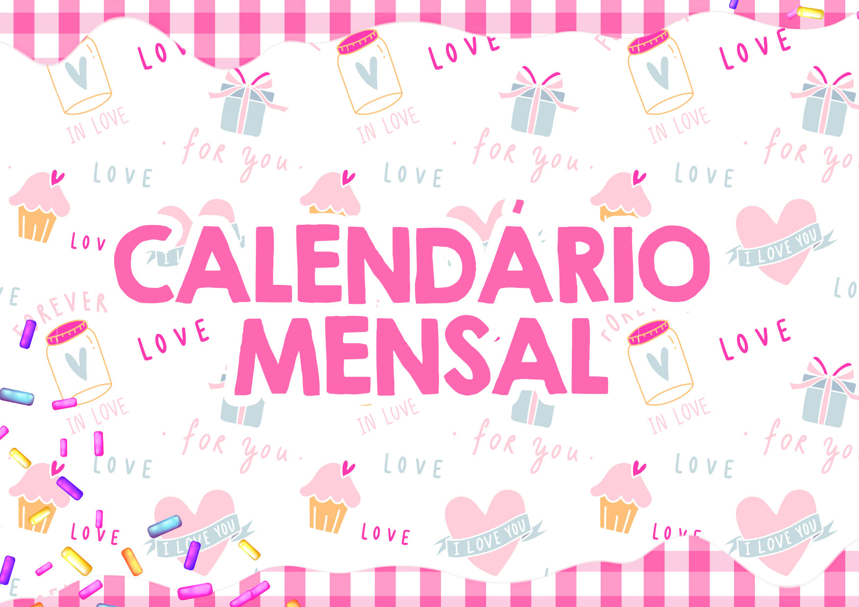 Capa Calendario Mensal Cupcake 2020