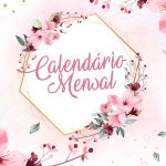 Capa Calendario Mensal Floral 2020