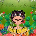 Capa Calendario Mensal Frida Kahlo