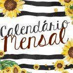 Capa Calendario Mensal Girassol 2020