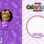 Capa Livrinho para Colorir Poderosa Chefinha Afro